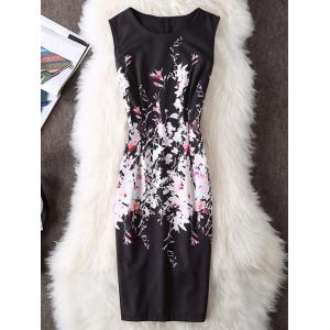 Sleeveless Bodycon Floral Dress