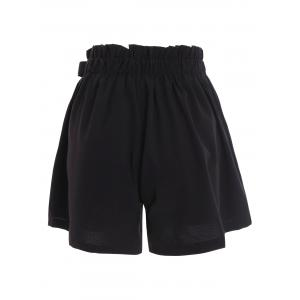 Plus Size Self Tie Culotte Shorts - BLACK 4XL