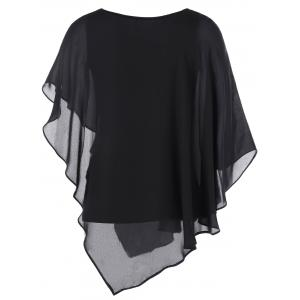 Butterfly Sleeve Asymmetrical Layered Blouse -