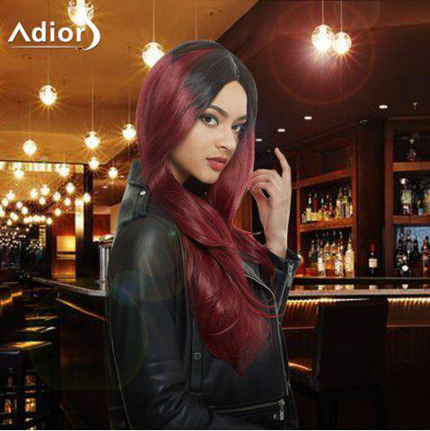 Outfit Long Colormix Side Parting Tail Adduction Natural Straight Synthetic Wig COLORMIX