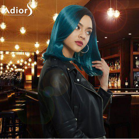 Discount Adiors Medium Side Parting Ombre Straight Synthetic Wig