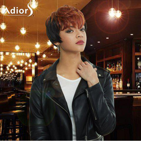 Store Adiors Short Highlight Full Bang Straight Synthetic Wig