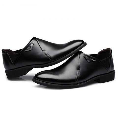 Chic PU Leather Elastic Band Formal Shoes - 40 BLACK Mobile