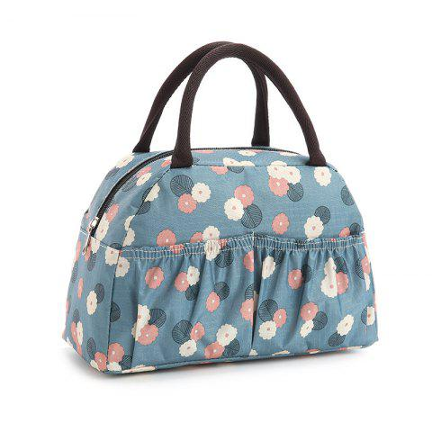 Casual Nylon Printed Tote Bag - Blue