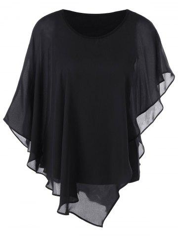 Shops Butterfly Sleeve Asymmetrical Layered Blouse