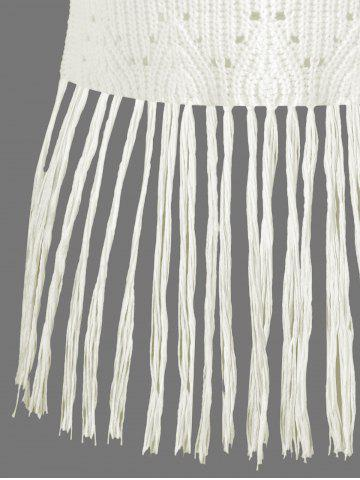 Buy Ribbed Tassel Knitted Tank Top - ONE SIZE OFF-WHITE Mobile