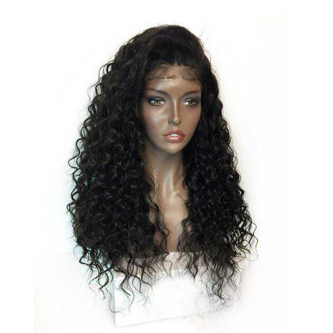 Buy Fluffy Curly Long Lace Frontal Synthetic Wig - BLACK  Mobile