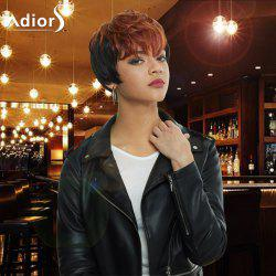 Adiors Short Highlight Full Bang Straight Synthetic Wig -