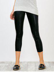 High Rise Faux Leather Shiny Leggings