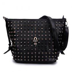 Rivets and Skull Detail Shoulder Bag