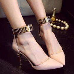 Ankle Strap Zipper Pumps - PINK