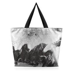 Nylon Ink Painting Shopper Bag