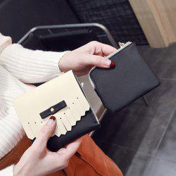 Fringed Colour Block Mini Wallet