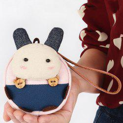 Canvas Cartoon Rabbit Change Purse