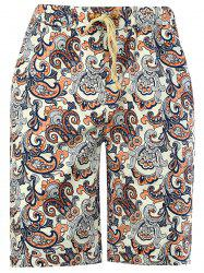 All Over Print Beach Linen Shorts