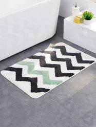 Wave Design Fabric Non Slip Door Entrance Bathroom Rug