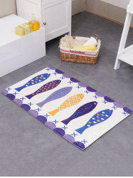 Eco-Friendly Poisson Absorption Tapis Soft de bain - Multicolore