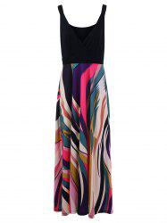 Low Cut Plus Size Print Maxi Dress