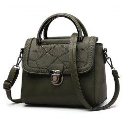 Geometric Pattern Push Lock Handbag