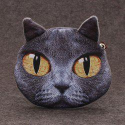 Funny 3D Cat Painted Coin Purse