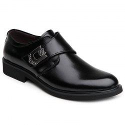 PU Cuir Métal Embellissement Formal Shoes - Noir