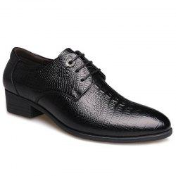 Pointed Toe Embossing Formal Shoes