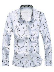 Turndown Collar Printed Shirt