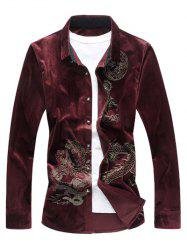 Dragon Print Velvet Shirt