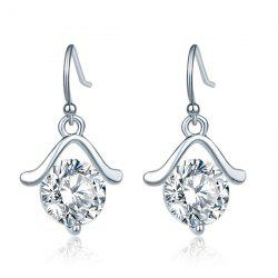 Hanger Rhinestone Drop Earrings