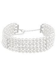 Multilayered Artificial Pearl Necklace -