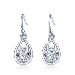 Teardrop Faux Diamond Drop Earrings