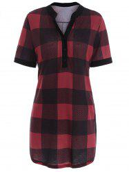Plaid Plus Size Tunic Top