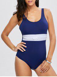 Scoop Neck Crochet One Piece Swimwear