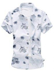 Floral Print Hawaiian Shirt -
