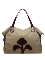 Canvas Tree Pattern Weekend Tote Bag