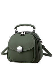 Cross Body Metal Detail Convertible Bag - ARMY GREEN
