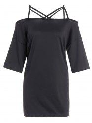 Plus Size Cutout Tunic T-Shirt