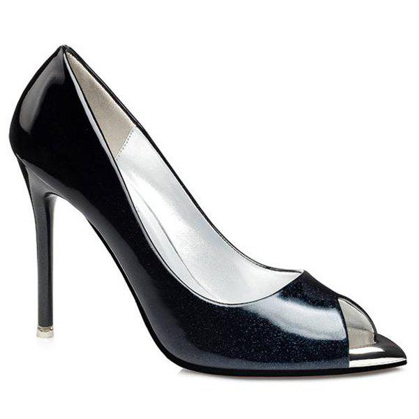 Affordable Ombre Patent Leather Peep Toe Shoes