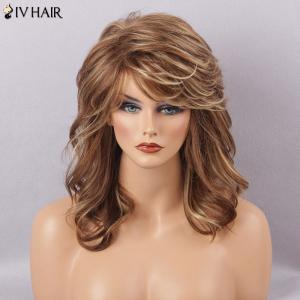Siv Hair Long Fluffy Curly Side Bang Human Hair Wig