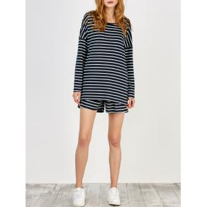 Striped Tee and Shorts Twinset