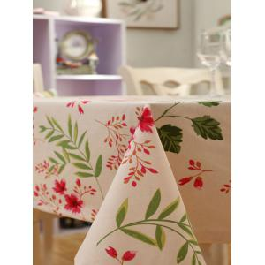 Countryside Floral Print Waterproof Oilproof Table Cloth - APRICOT 140*140CM