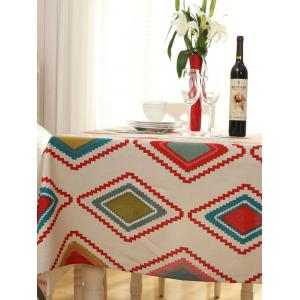 Thicken Rhombus Pattern Washable Table Cloth - COLORMIX 140*140CM
