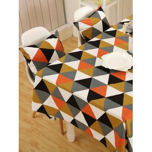Europe Geometry Print Oilproof Kitchen Table Cloth - COLORMIX 140*200CM