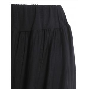 Plus Size Pleated Palazzo Pants -