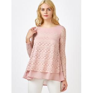 Lace Crochet Layered Blouse -