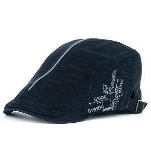 UV Protection Cadet Hat with Embroidery - Cadetblue