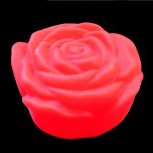 Colorful LED Rose Flower Night Light - RED