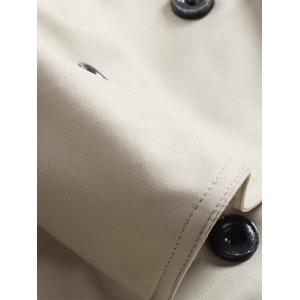 Double Breasted Epaulet Long Trench Coat -