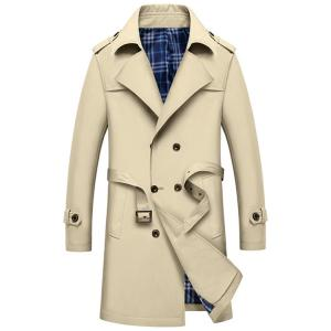 Double Breasted Epaulet Long Trench Coat