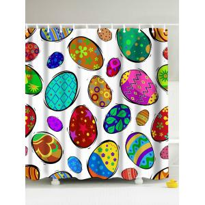 Colorful Eggs Easter Decor Eco-Friendly Shower Curtain - Colorful - 180*200cm